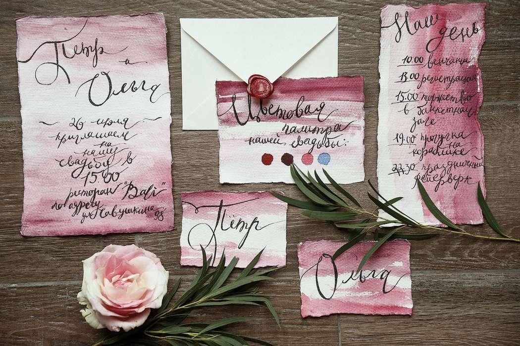 """Фото 17768042 в коллекции Примеры индивидуально разработанных приглашений - Студия полиграфии """"Cute wedding"""""""