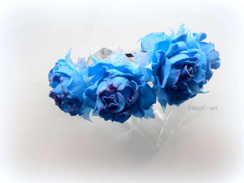Ободок с розами - фото 11069478 Мастер аксессуаров Ирина K-art