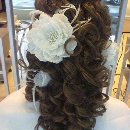 Причёска для невесты на длинные волосы
