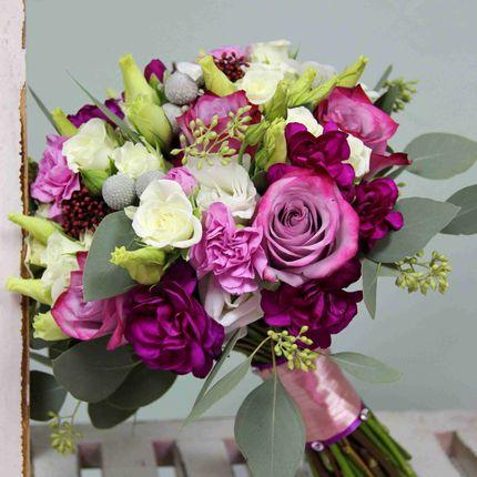 Букет невесты в ягодных тонах