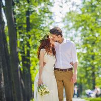 Свадебная прогулка в останкинском парке
