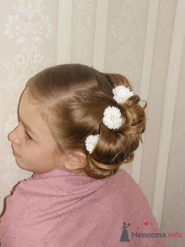 Прическа на свадьбу для ребенка - фото 1377 Стилист Анна Пухкало