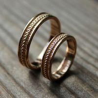 """Парные обручальные кольца """"Колос любви"""""""