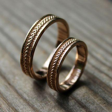 """Обручальные кольца на заказ """"Колос любви"""""""