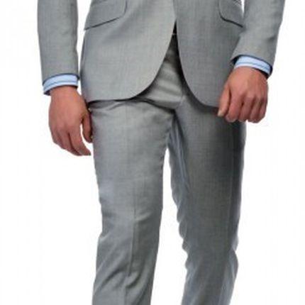 Светло-серый мужской костюм Gagliardi
