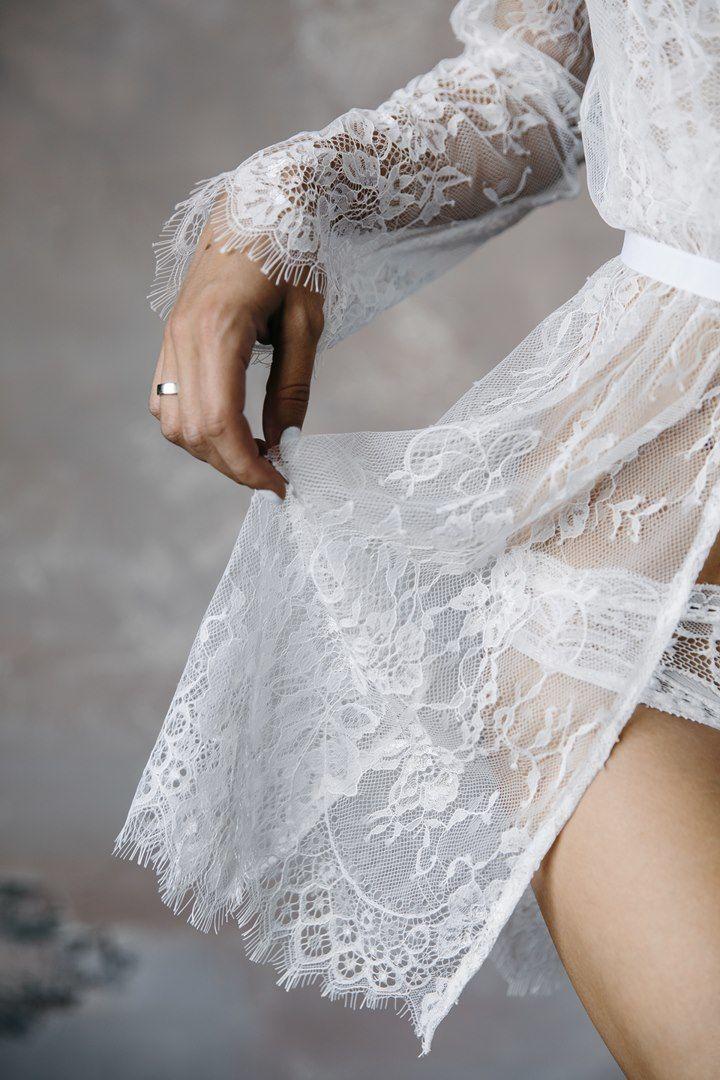 Bride white negligee - фото 11495798 Neglige dress мастерская будуарных платьев