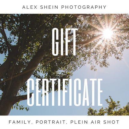 Подарочный сертификат на фотосъёмку