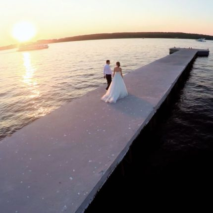 Аэросъёмка свадебного дня на квадрокоптер
