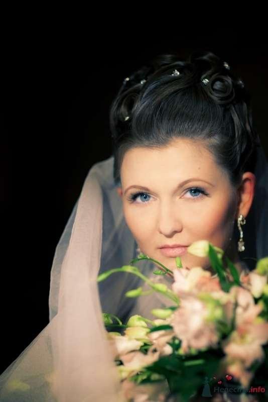 Свадебная прическа на длинные волосы, свадебный макияж - фото 67116 Стилист-визажист Кандалова Елена