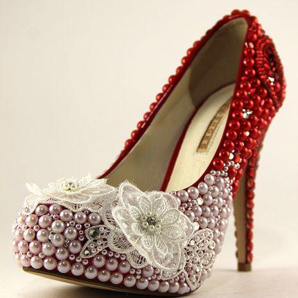 """Свадебные и вечерние туфли - модель """"Маки"""""""