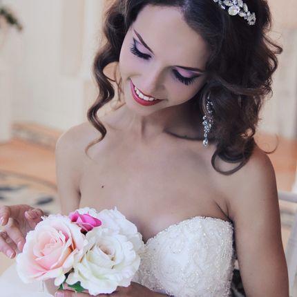 Свадебный образ, прическа + макияж
