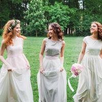 Невеста с подружками, подружки невесты, фотосессия в Таврическом саду