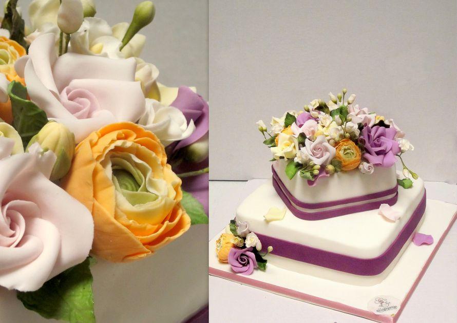 Оформление тортов фото из марципана