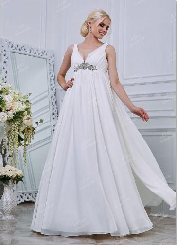 """Платье  с  завышенной  талией  в  греческом стиле. - фото 11958936 Интернет-магазин свадебных платьев """"Fleur d'Orange"""""""