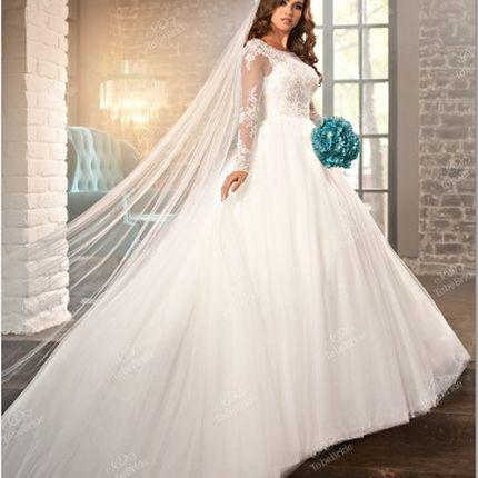 Свадебное платье в орнамент
