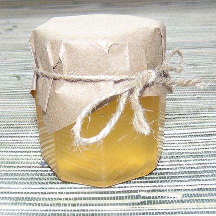Медовая баночка-бонбоньерка с крафт-бумагой