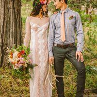 Стиль пары на рустикальной свадьбе.