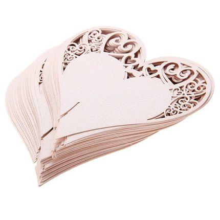 """Рассадочная карточка на бокал """"Сердце"""""""