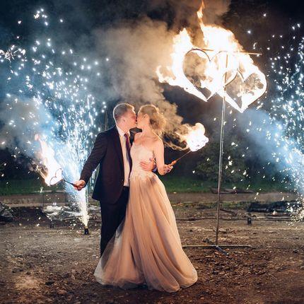 Церемония поджога огненных сердец - холодные фонтаны