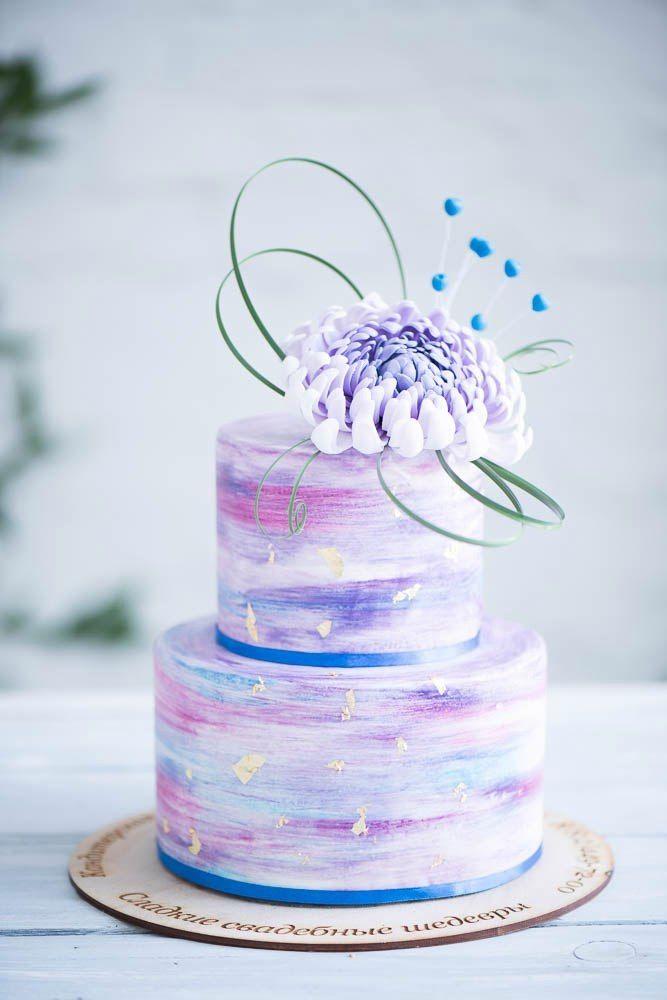 """Космический свадебный торт с астрой из сахарной пасты - фото 13473150 Кондитерская """"Тирамису"""""""