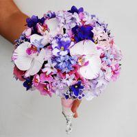 Букет невесты в розово-сиреневом цвете