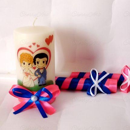 """Комплект свадебных свечей """"Lоve is..."""""""