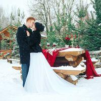Организация,декор и букет для зимней фотосессии
