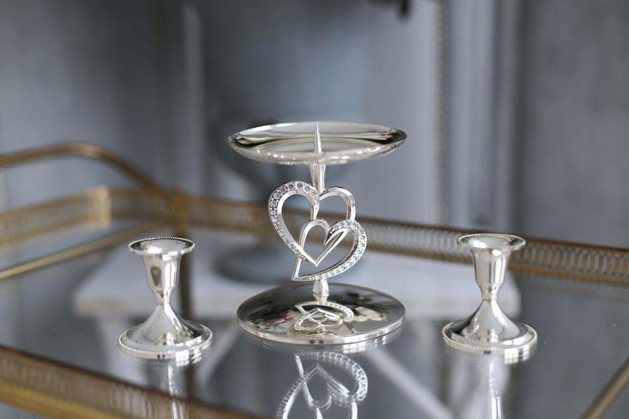 Свадебный набор подсвечников Влюбленные сердца