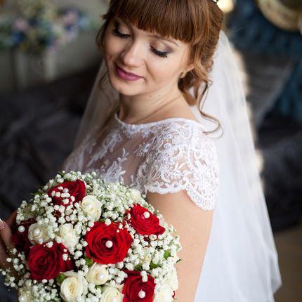 Образ невесты - макияж+прическа