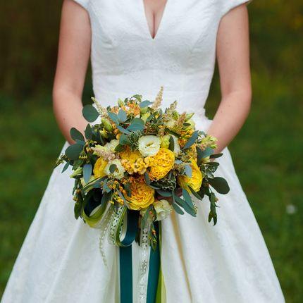 Солнечный букет невесты