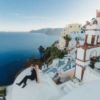 Санторини свадьба