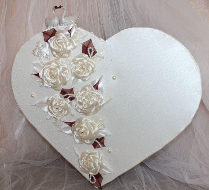 Как украсить коробку к свадьбе своими руками
