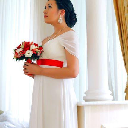 Образ невесты - макияж и причёска
