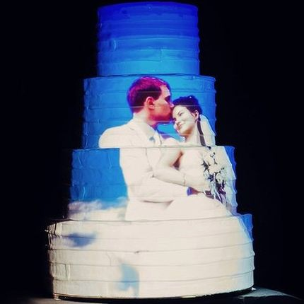 3D Mapping свадебного торта