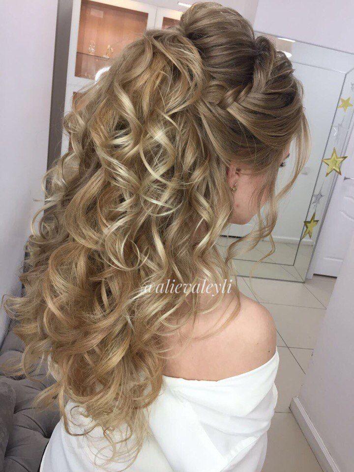 Свадебный хвост. В работе использовала дополнительные пряди на заколках из натуральных волос. - фото 15321482 Стилист Лейла Алиева