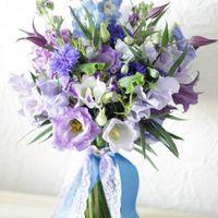 леетний букет, букет из полевых цветов, васильки, синий букет
