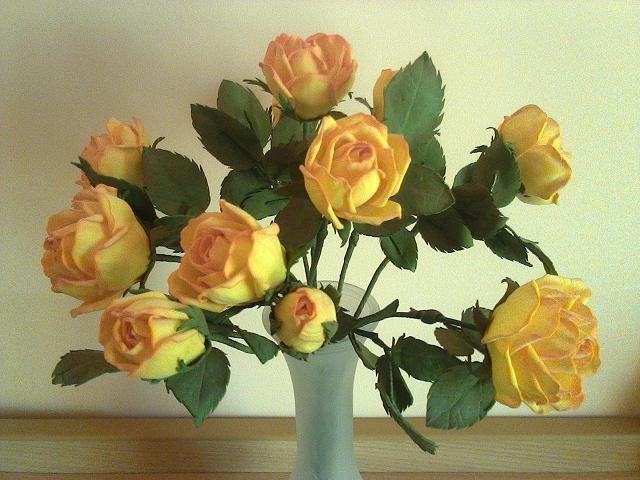 Розочки из фоамирана. - фото 13667348 Студия декора Geo_big_flower_decor