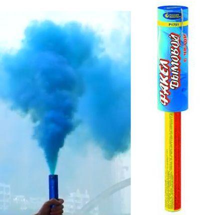 Факел дымовой с чекой синий