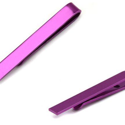 Зажим для галстука однотонный фуксия