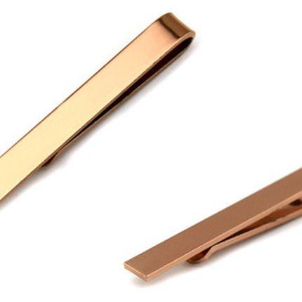 Зажим для галстука однотонный золотой
