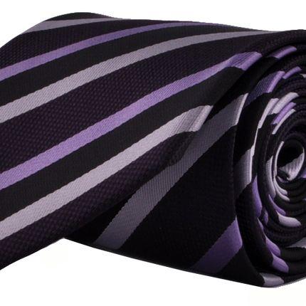 Галстук фиолетовый в в косую полоску