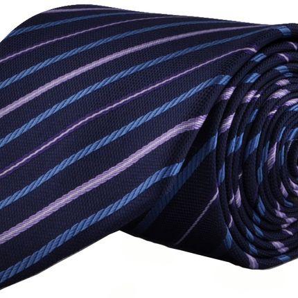 Галстук темно-синий в в косую узкую полоску