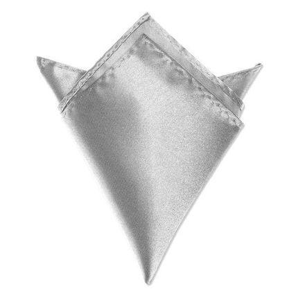 Нагрудный платок атласный серый