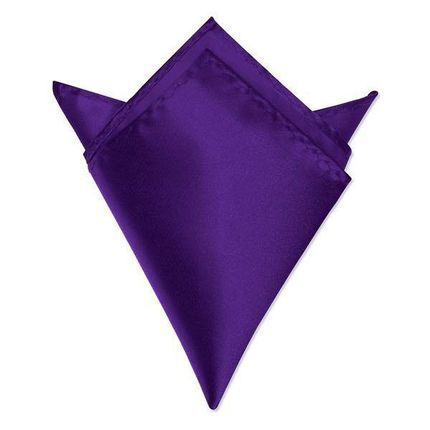 Нагрудный платок атласный сливовый