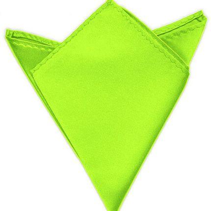 Нагрудный платок атласный салатовый