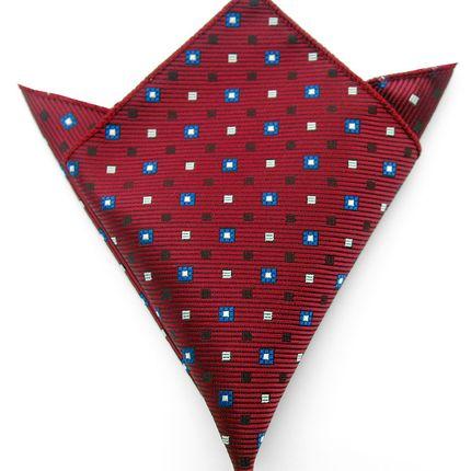 Нагрудный платок бордовый в ромбики
