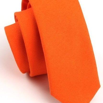 Галстук матовый однотонный оранжевый
