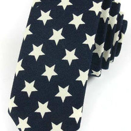Галстук темно-синий со звездами