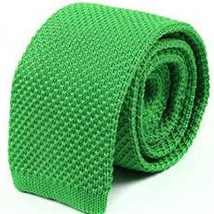 Галстук вязаный зеленый