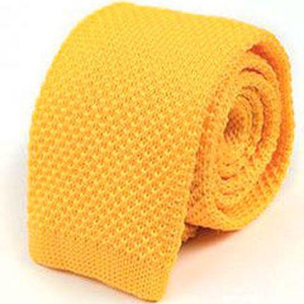 Галстук вязаный желтый